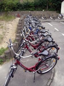 Fuhrpark der Radfahrschule für Erwachsene