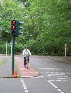 Übungsort der Radfahrschule für Erwachsene in Berlin